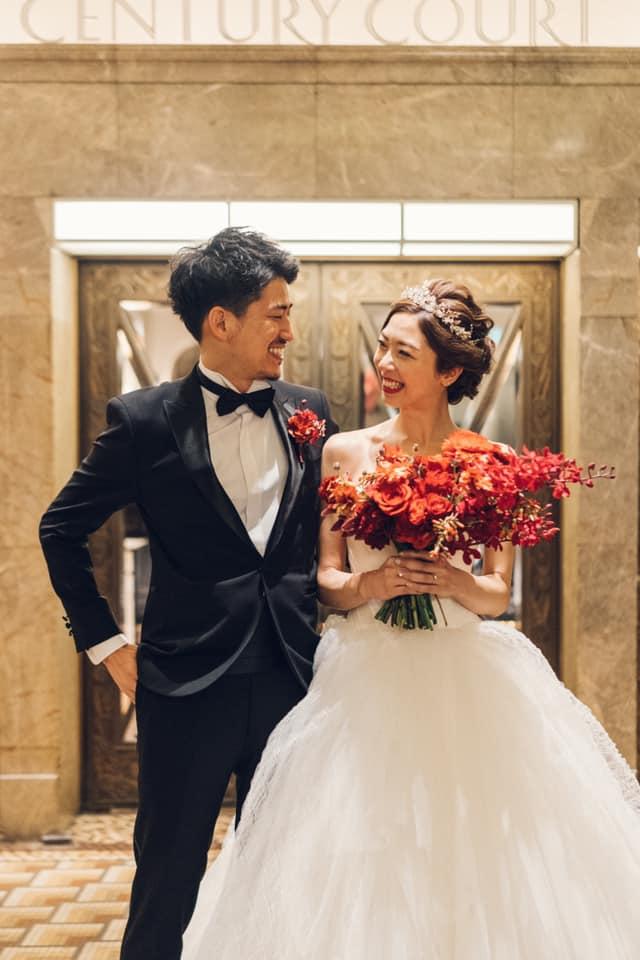 二人の結婚式でのワンシーン